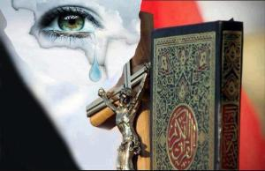 Crucifix and Quran_Tears